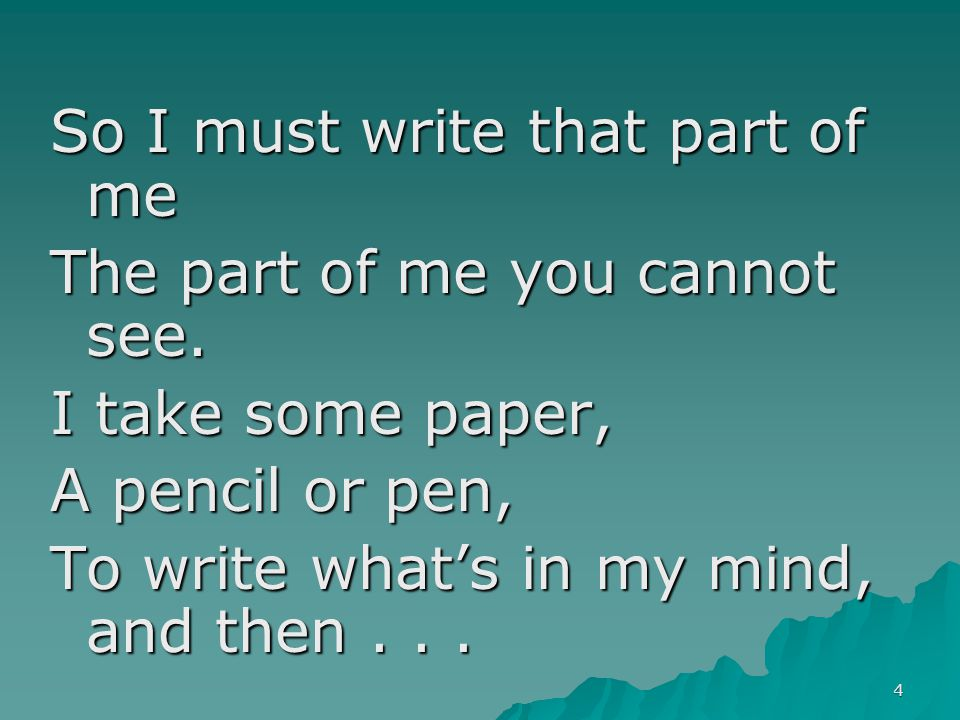 55 Formula Poetry 6 I used to be…, but now I am… Poem: Begin 1st (& odd-numbered) line with, I used to be .
