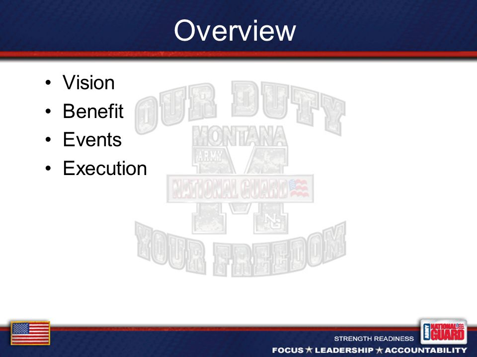Overview Vision Benefit Events Execution