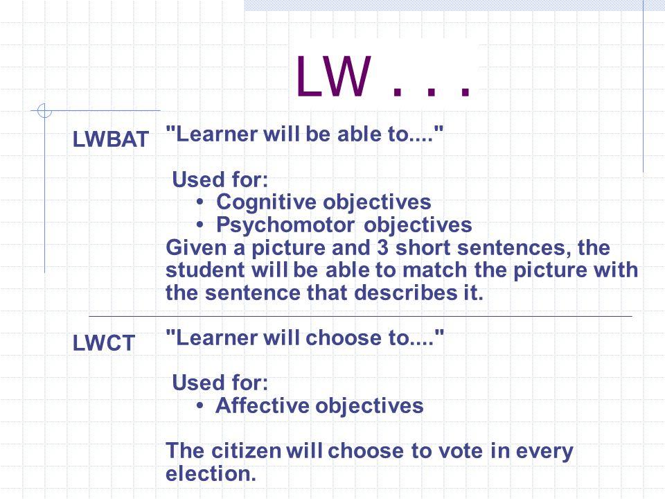 LW... LWBAT LWCT