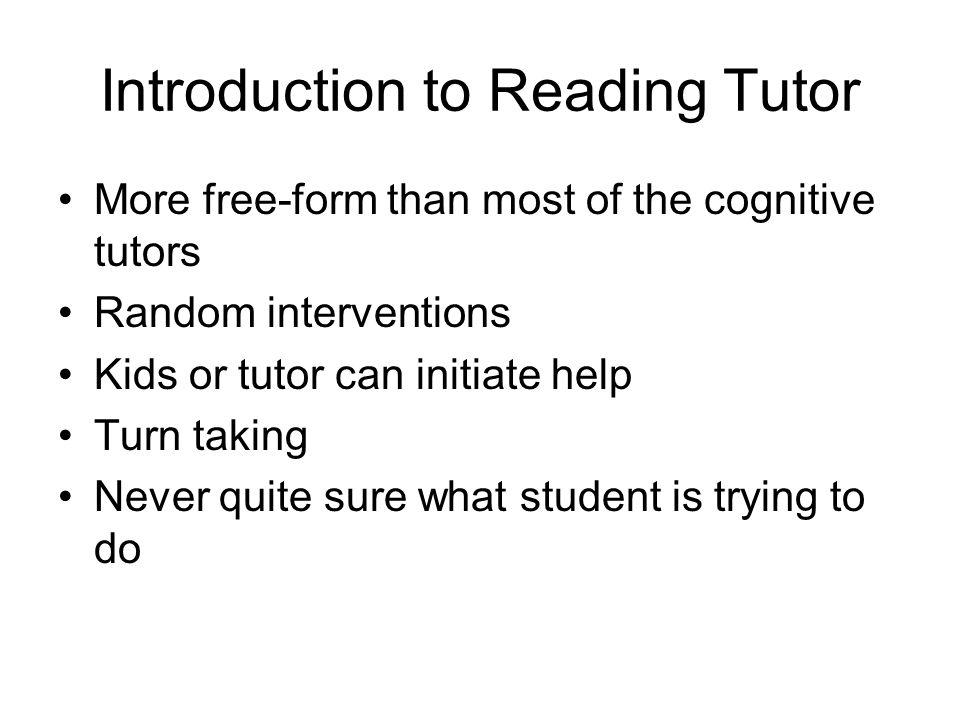 Project LISTEN's Reading Tutor