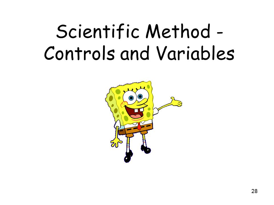 28 Scientific Method - Controls and Variables