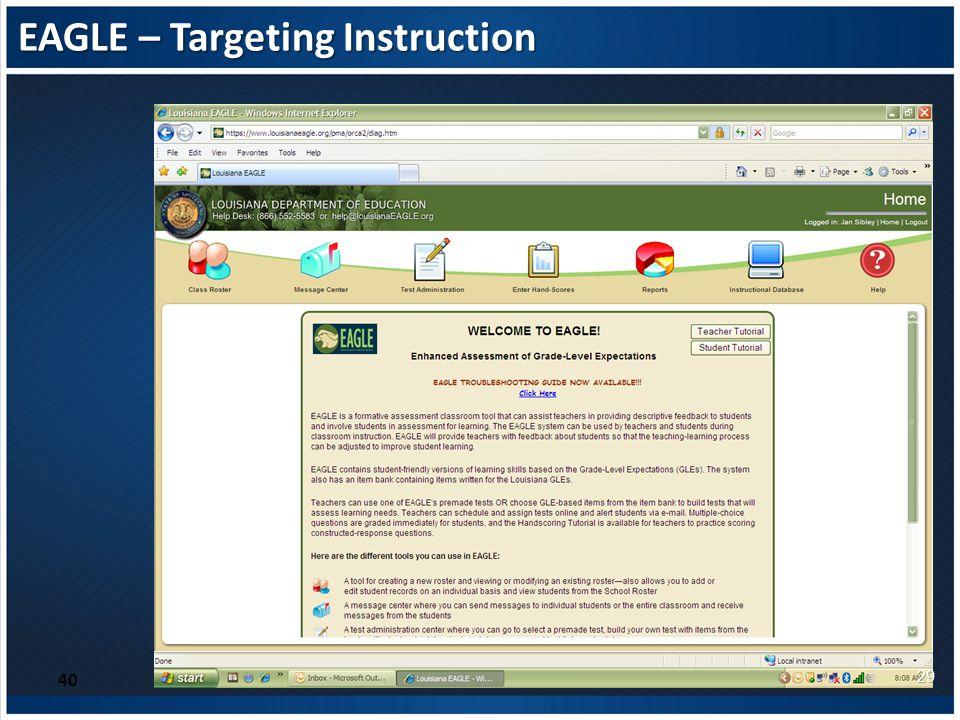 EAGLE – Targeting Instruction 40 29