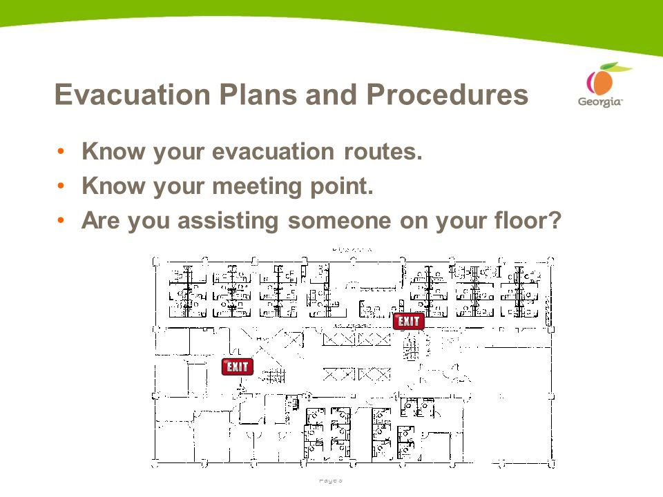 Page 8Presentation name | date If the evacuation alarm sounds Go to your closest exit.