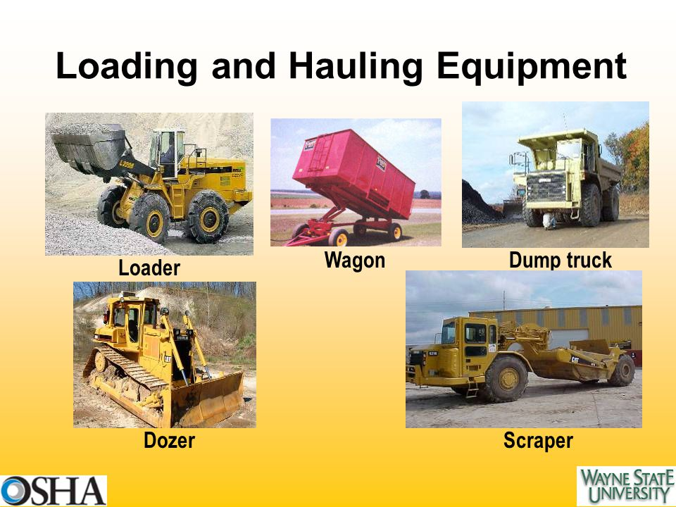 Loader Dozer WagonDump truck Scraper Loading and Hauling Equipment