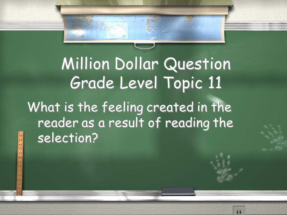 1st Grade GeneralTopic 10 Answer / Main idea Return