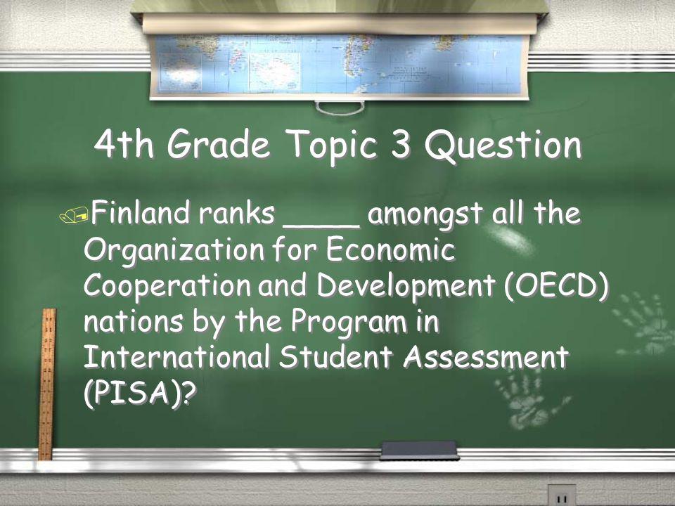 5th Grade Topic 2 Answer Return Finland