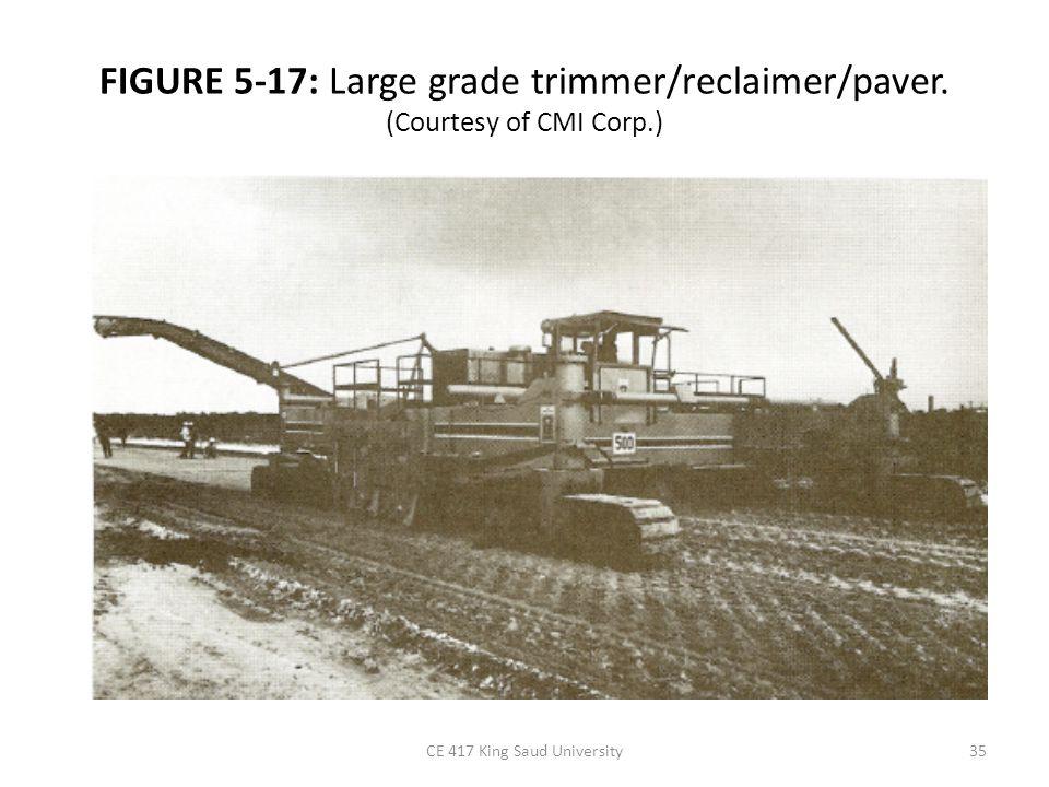 FIGURE 5-17: Large grade trimmer/reclaimer/paver. (Courtesy of CMI Corp.) CE 417 King Saud University35