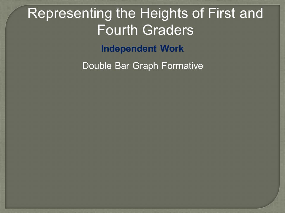 Representing the Heights of First and Fourth Graders Independent Work Double Bar Graph Formative
