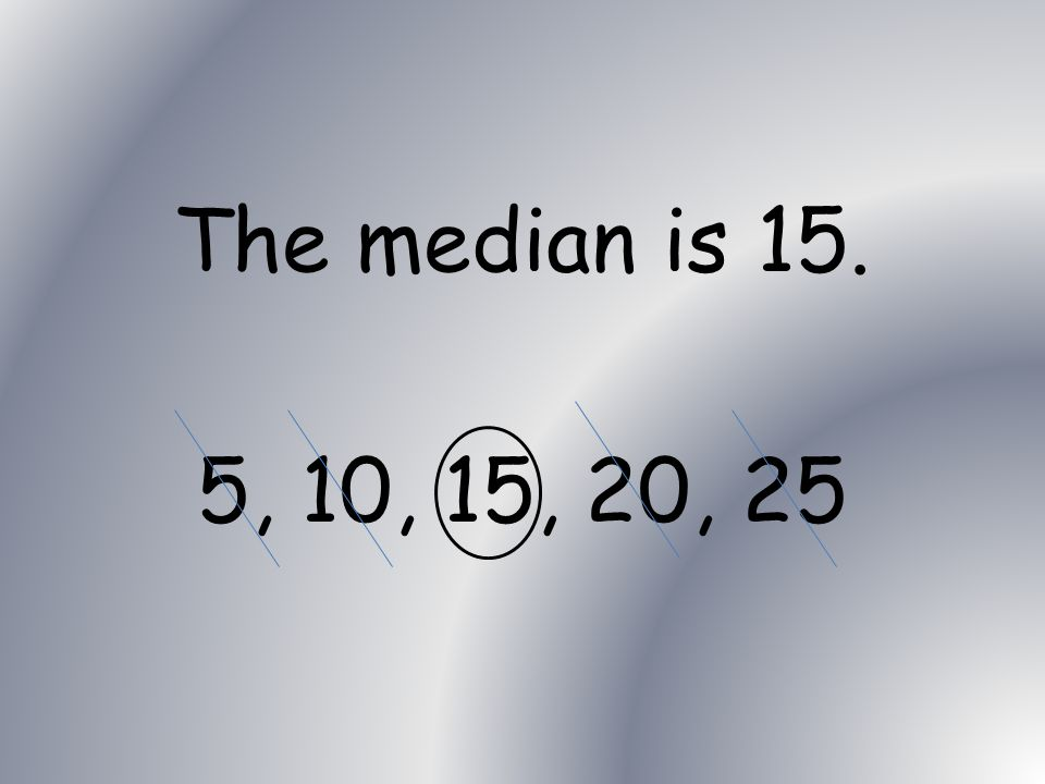 Mathematics What is the median of the following set of numbers 5, 10, 15, 20, 25