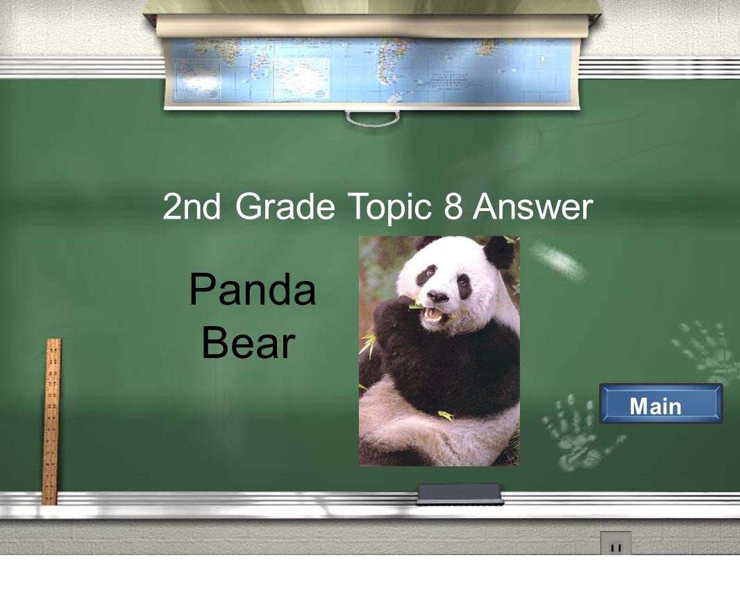 2nd Grade Topic 8 Answer Main Panda Bear