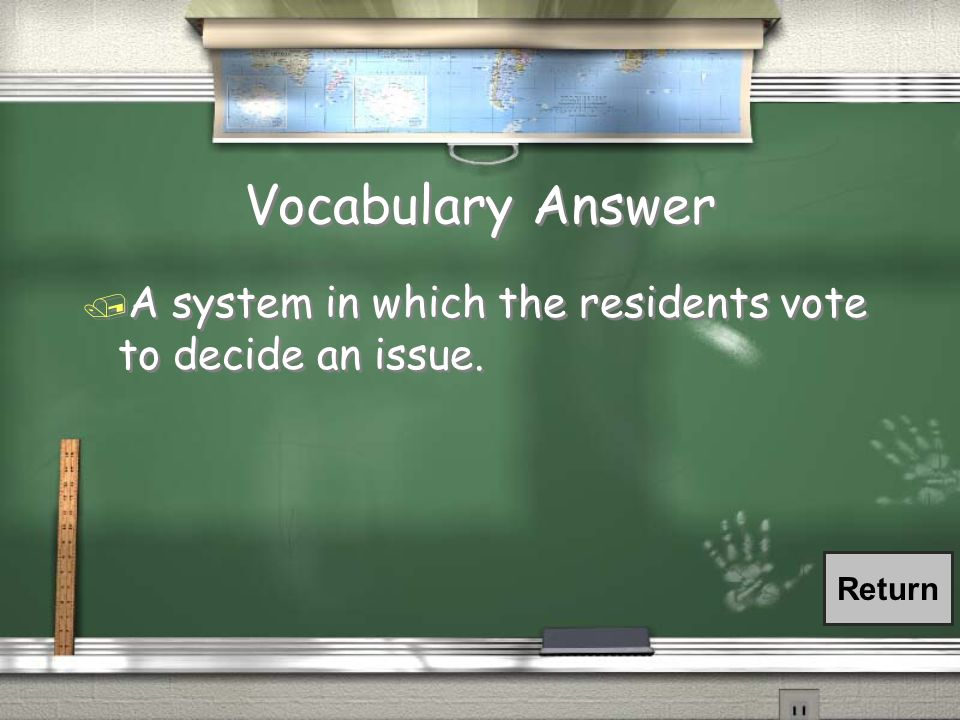 Vocabulary Question / What is popular sovereignty?
