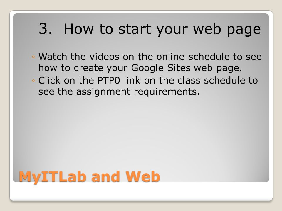 MyITLab and Web 3.