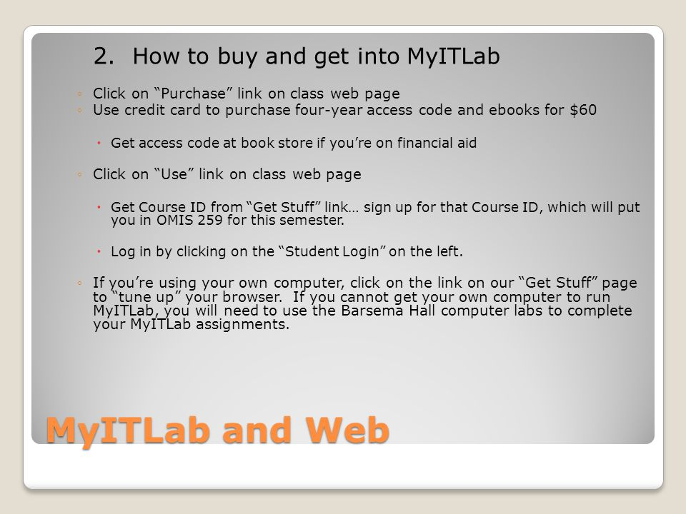 MyITLab and Web 2.