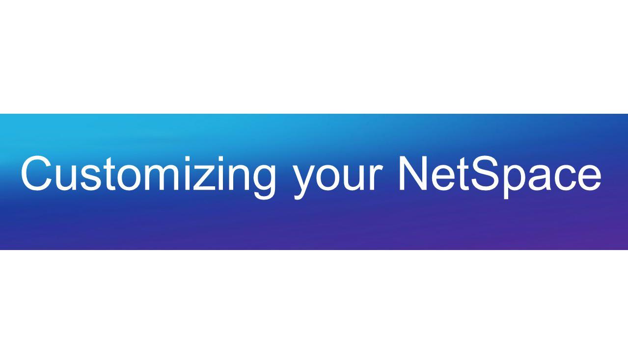 Customizing your NetSpace