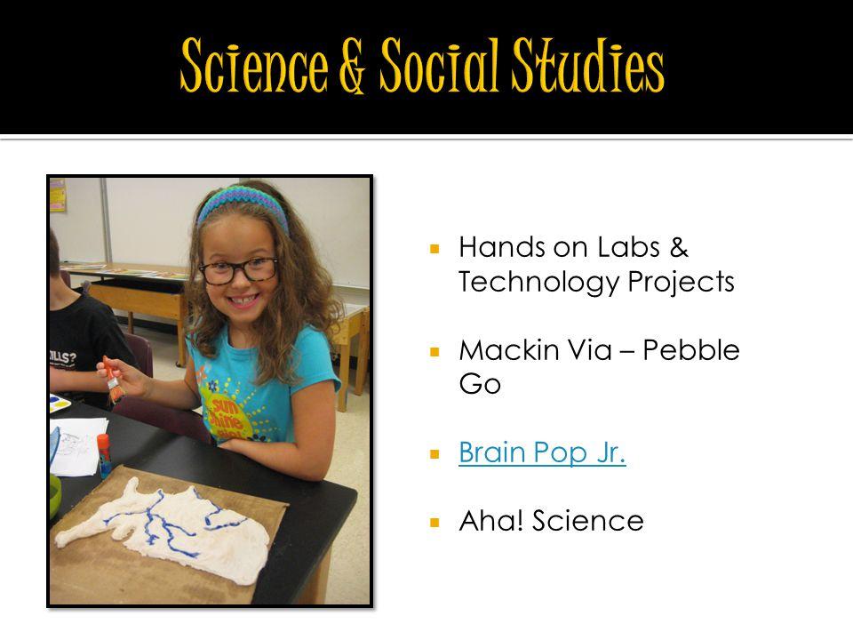  Hands on Labs & Technology Projects  Mackin Via – Pebble Go  Brain Pop Jr.