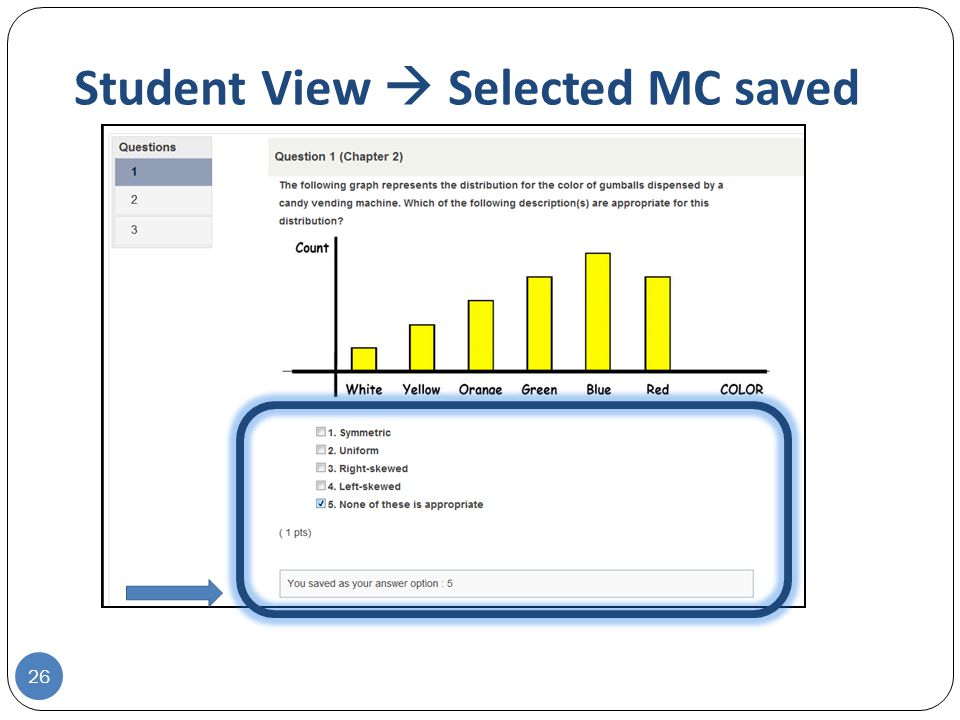 Student View  Selected MC saved 26