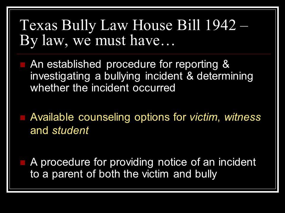D.Clark Love Top Ten Efforts To Prevent Bullying School Wide 8.