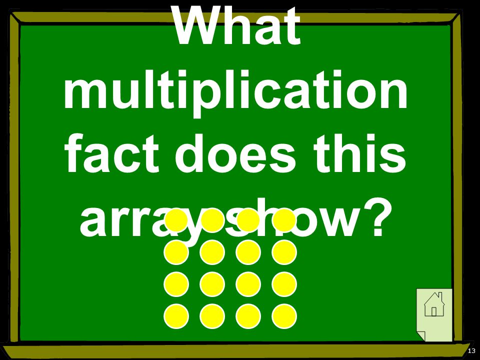 13 What multiplication fact does this array show