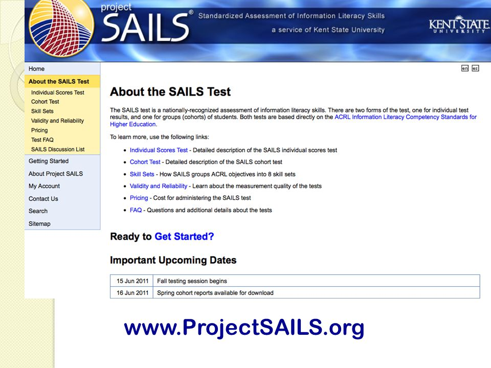 www.ProjectSAILS.org