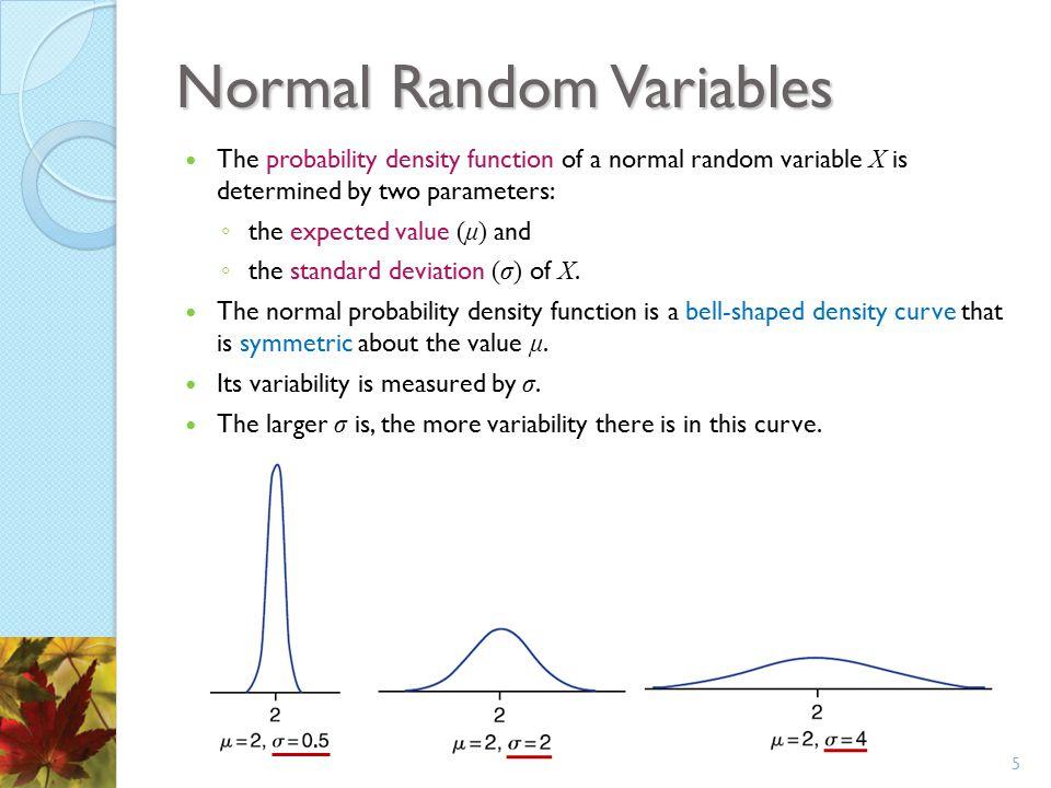 Percentiles of Normal Random Variables Since 100(1 − α) percent of the time a standard normal random variable will be less than z α, we call z α the 100(1 − α) percentile of the standard normal distribution.