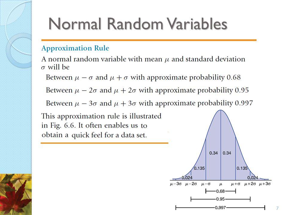 Normal Random Variables 7