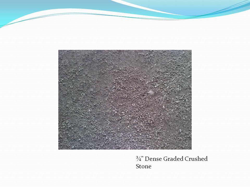 ¾ Dense Graded Crushed Stone