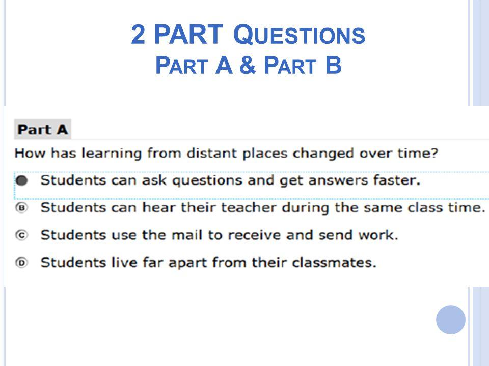 2 PART Q UESTIONS P ART A & P ART B