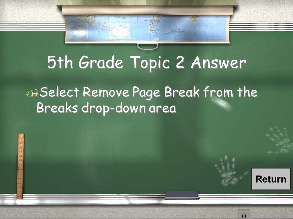 2nd Grade Topic 7 Answer / Margins Return
