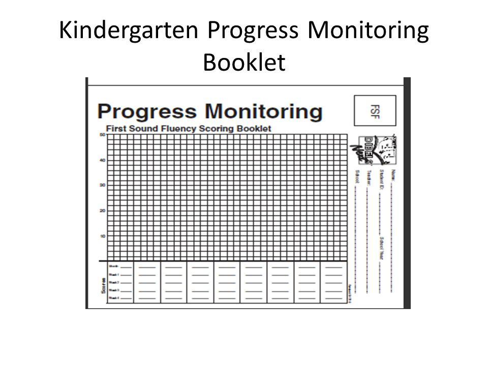 Kindergarten Progress Monitoring Booklet