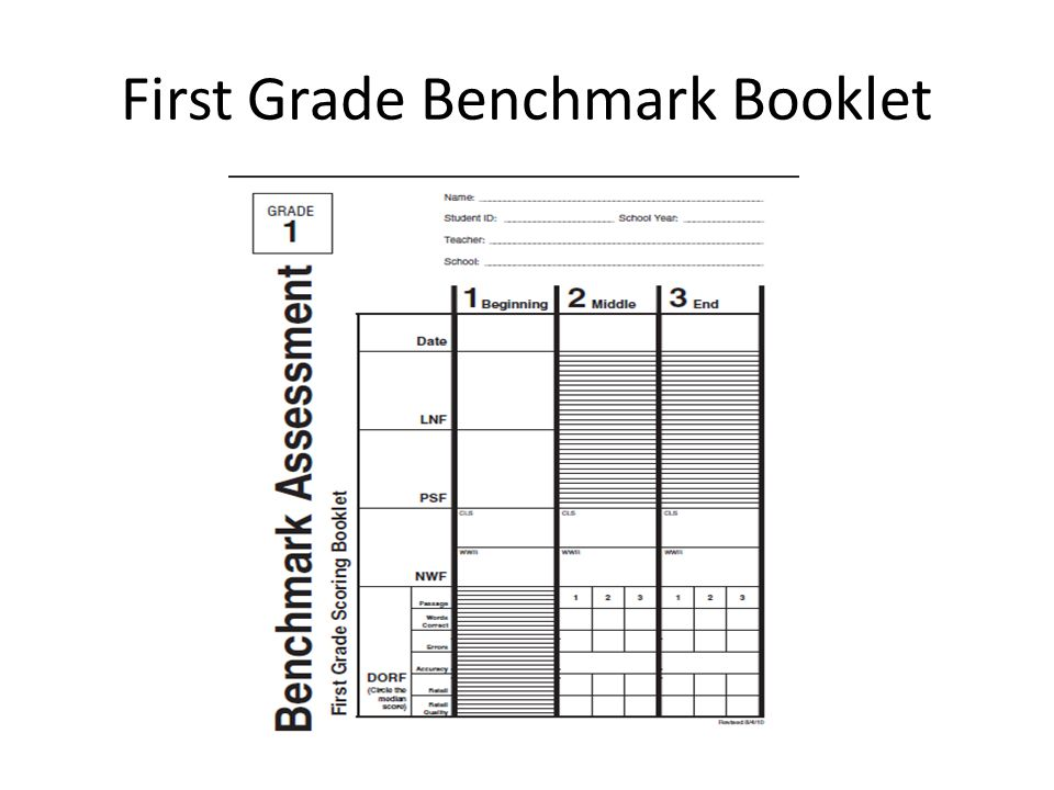 First Grade Benchmark Booklet