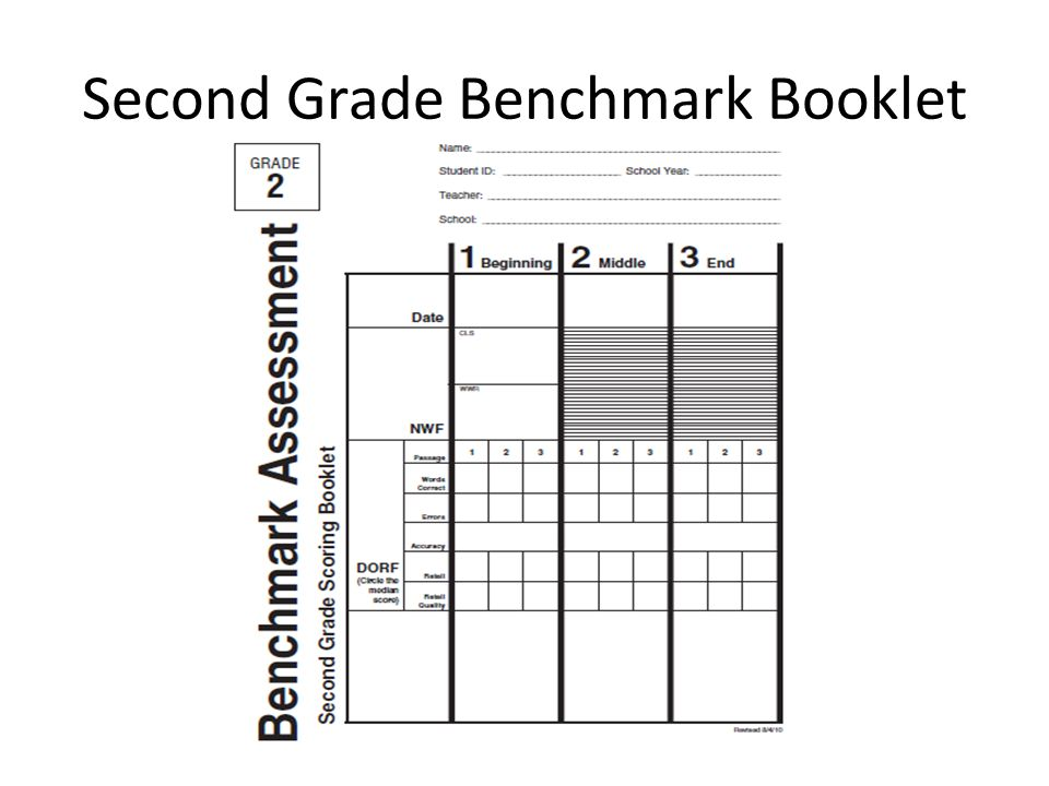 Second Grade Benchmark Booklet