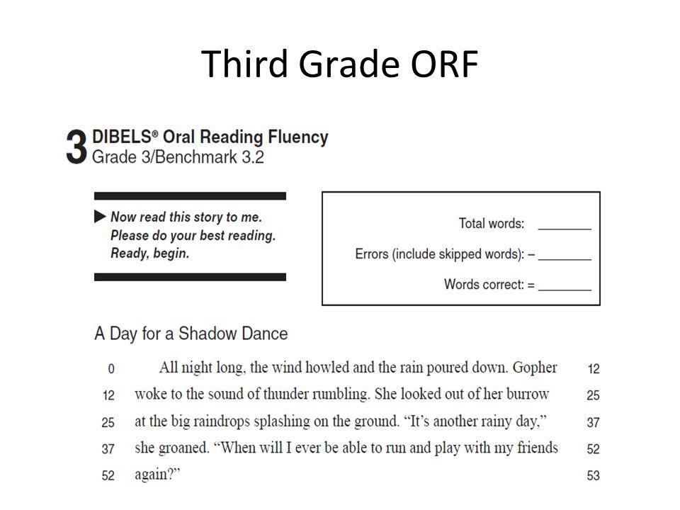 Third Grade ORF