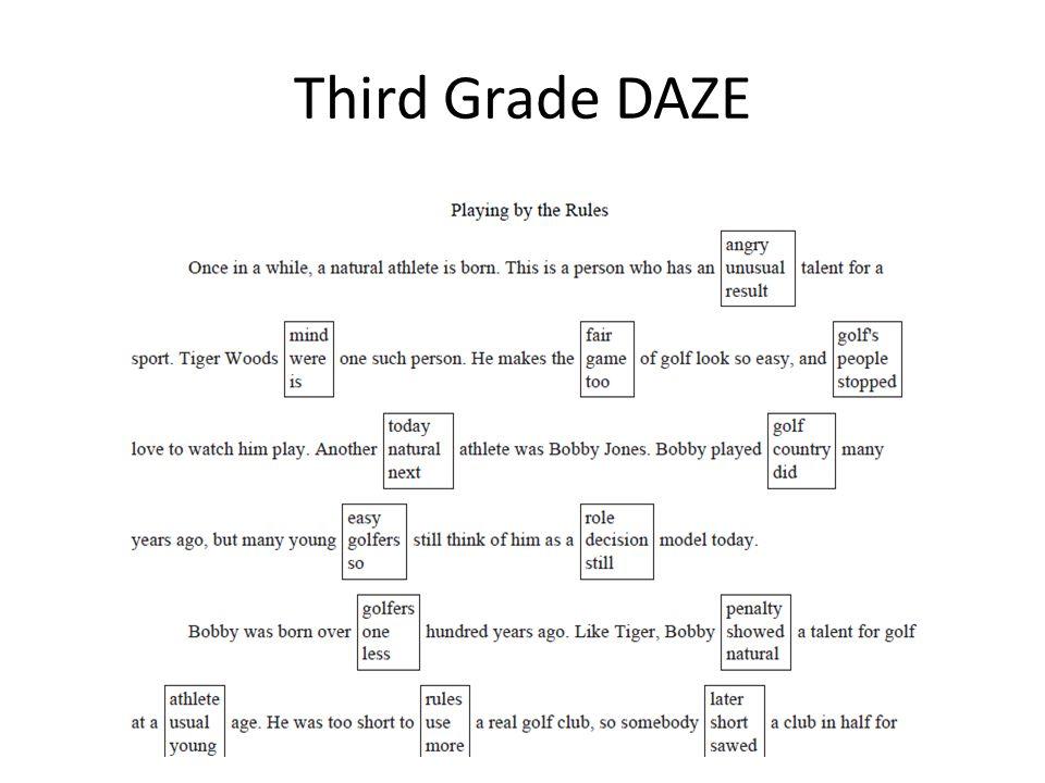 Third Grade DAZE