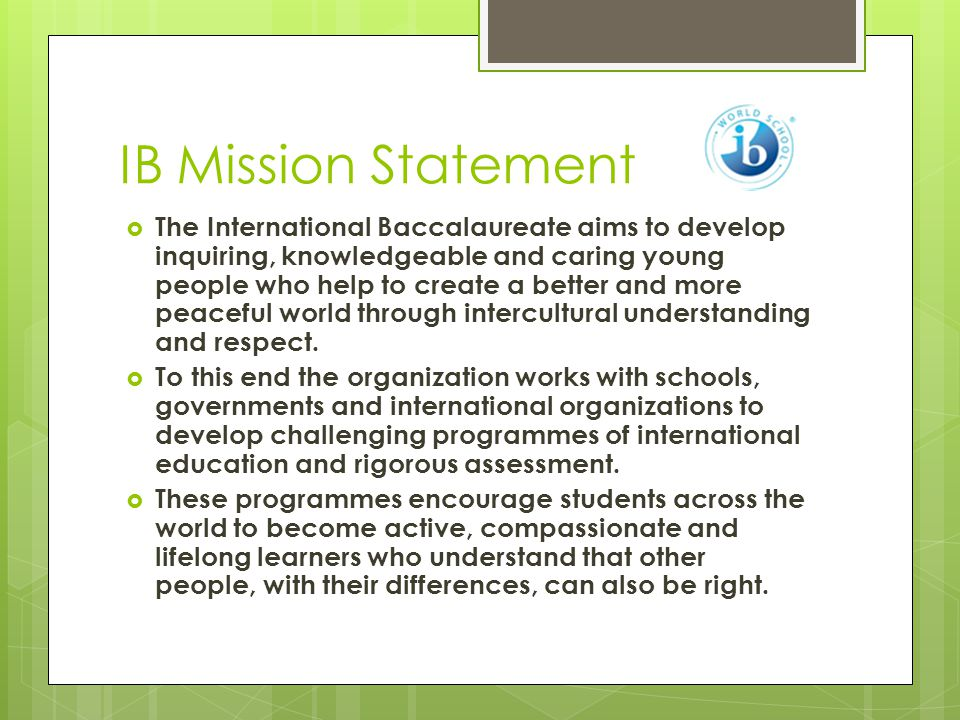 Do I have to know this. I'm not IB.  Yes, FMS is an IB MYP World Authorized School.