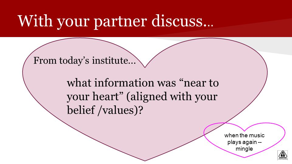 With your partner discuss...