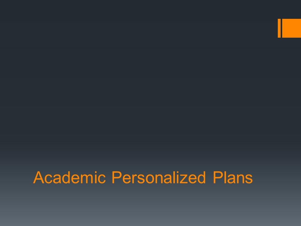 Academic Personalized Plans