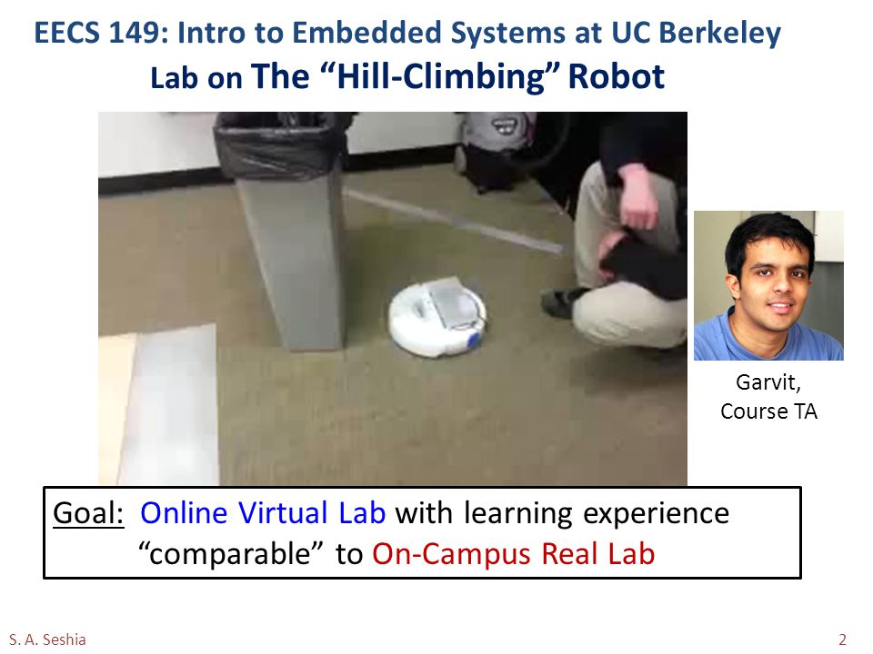 EECS 149: Intro to Embedded Systems at UC Berkeley Lab on The Hill-Climbing Robot S.