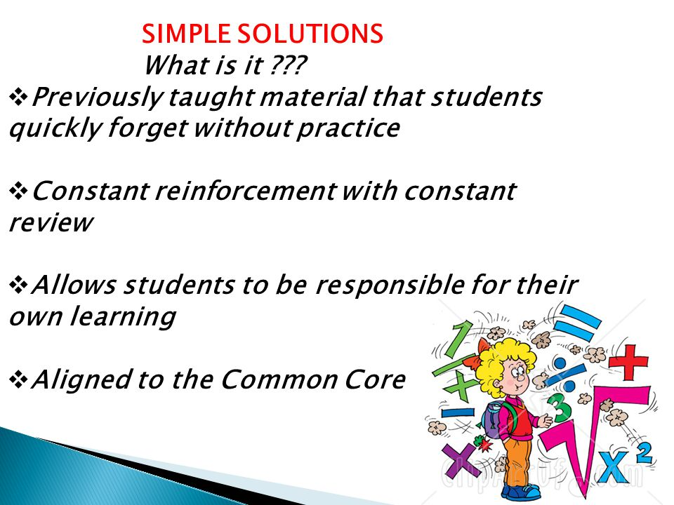 SIMPLE SOLUTIONS What is it .