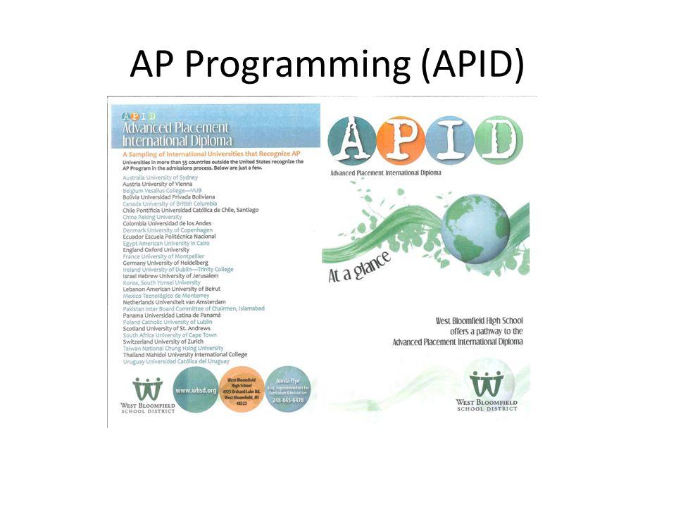 AP Programming (APID)
