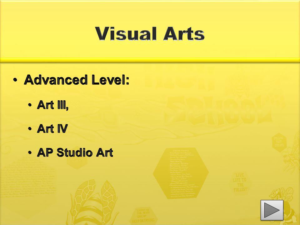 Advanced Level: Art III, Art IV AP Studio Art