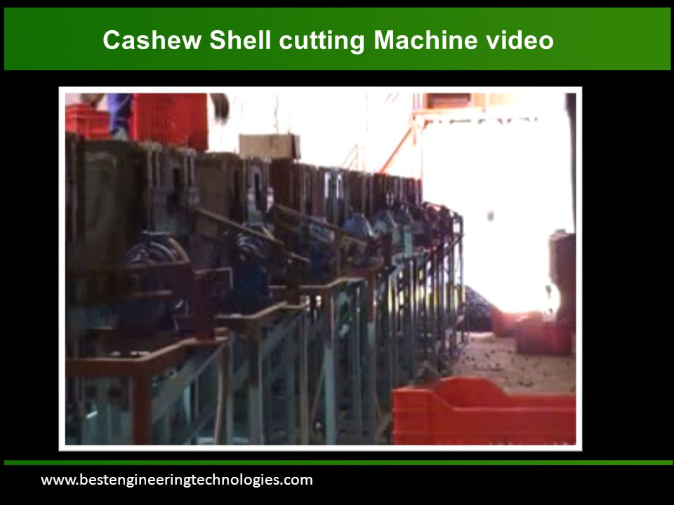www.bestengineeringtechnologies.com Cashew Shell cutting Machine video