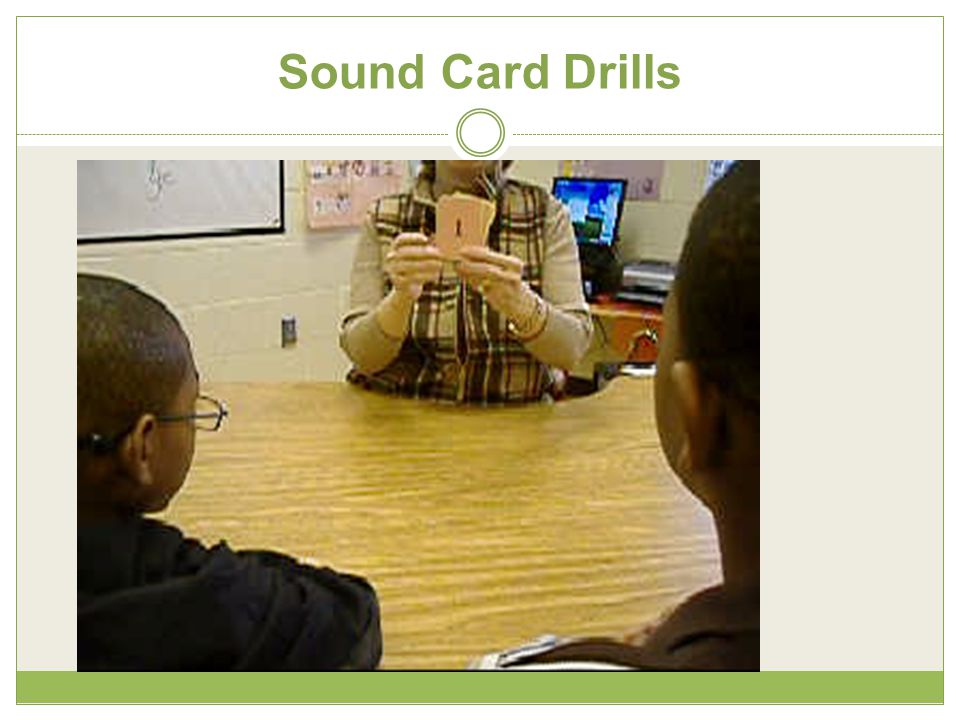 Sound Card Drills
