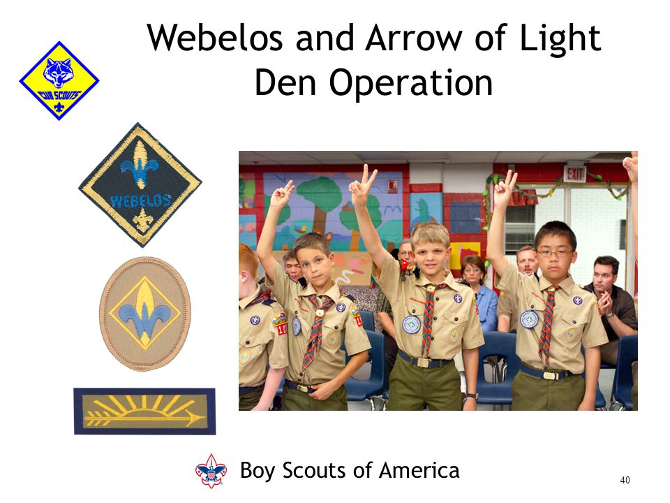 Webelos and Arrow of Light Den Operation Boy Scouts of America 40