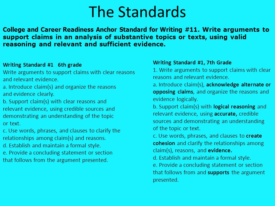 Let's practice with content specific reading focusing on Claims, Evidence and Argument
