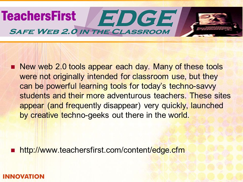 New web 2.0 tools appear each day.