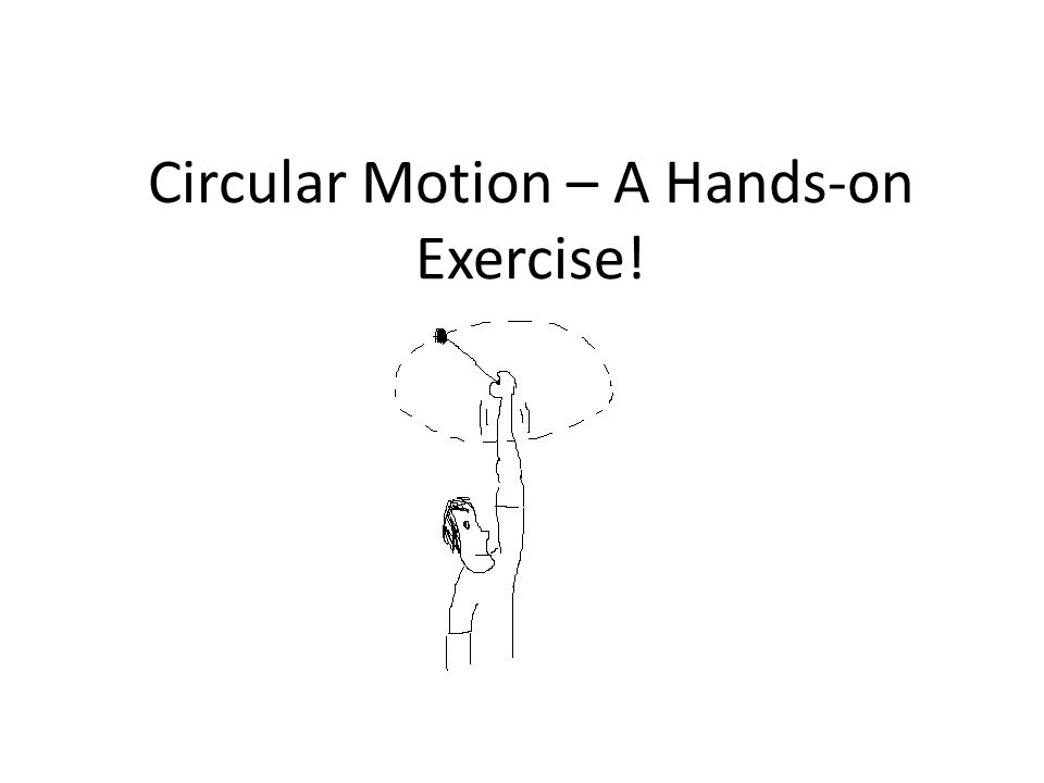 Circular Motion – A Hands-on Exercise!