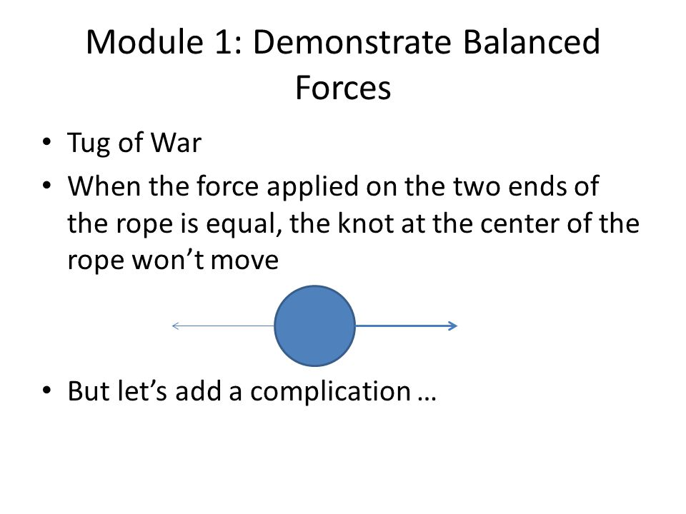 What if Forces are Balanced but --.
