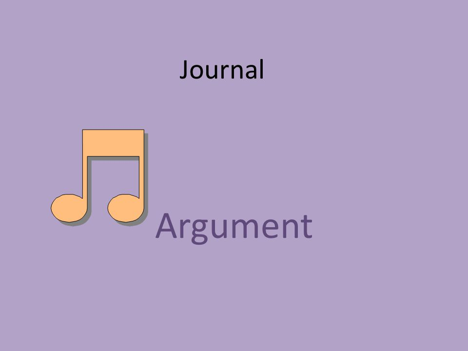 Journal Argument