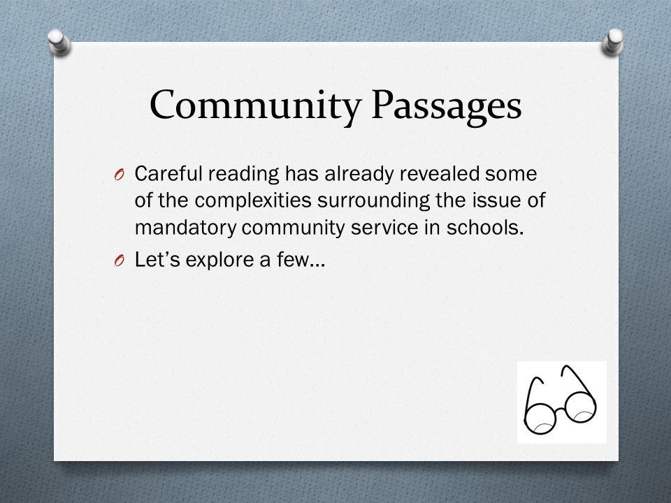 mandatory community service synthesis essay