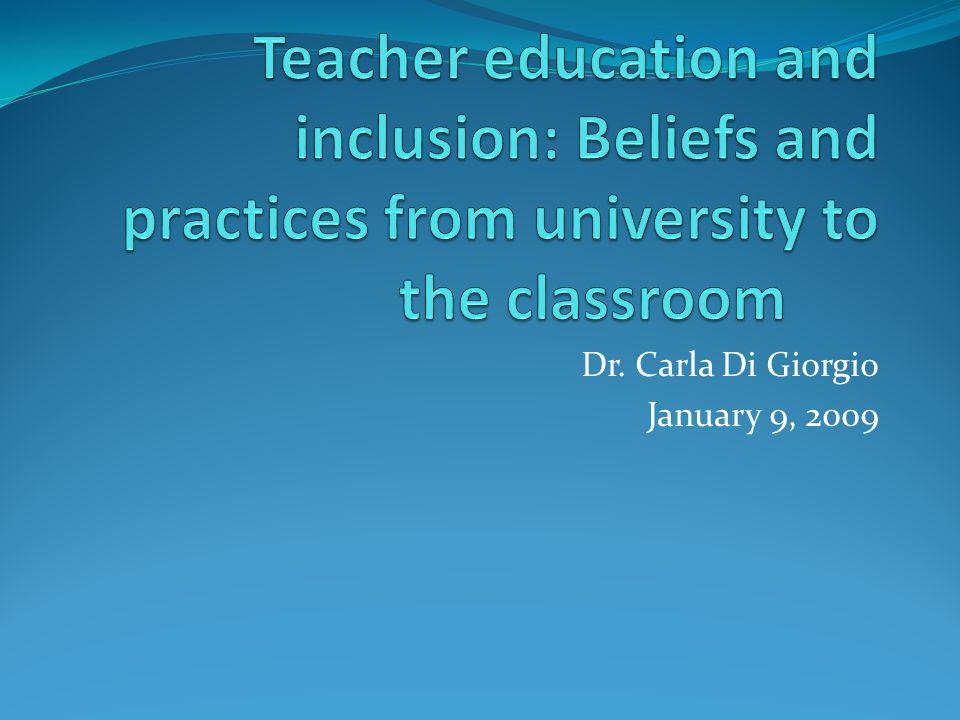 Dr. Carla Di Giorgio January 9, 2009